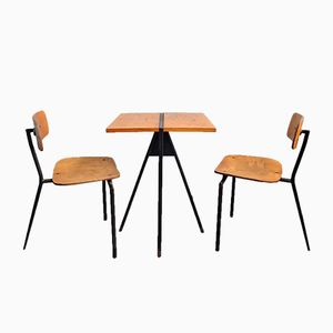 Table de Bistro Vintage & 2 Chaises
