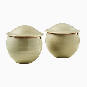 Lidded Bowls, 1980s, Set of 2