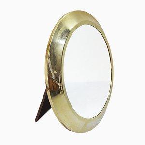Mid-Century Italian Brass Table Mirror, 1950s