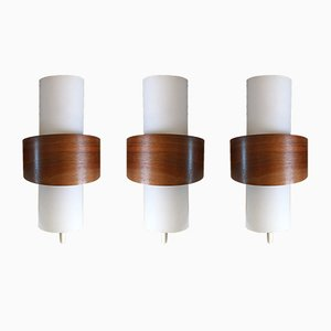 NX40 Wall Lamps by Louis Kalff for Philips, 1960s, Set of 3