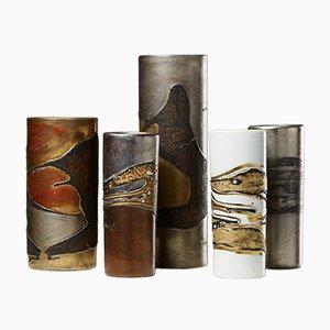 Vasen von Toini Muona für Arabia, 1960er, 5er Set