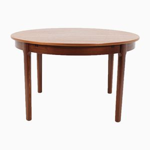 Round Danish Extendable Dining Table, 1960s