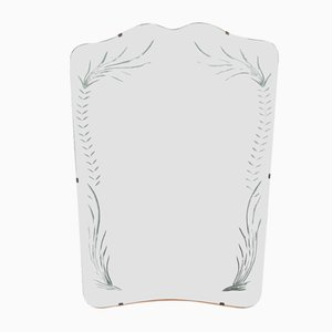 Engraved Mirror from Cristal Art, 1970s