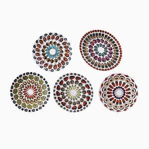 Mid-Century Giostra di Frutta Plates by Piero Fornasetti, Set of 5