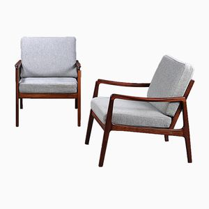 Mid-Century Model 119 Rosewood Armchairs by Ole Wanscher for France & Son, Set of 2