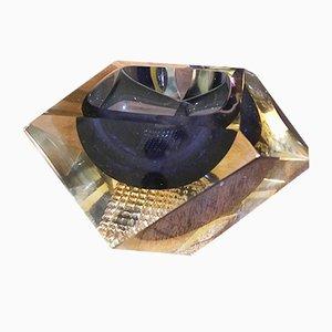 Cenicero vintage de cristal de Murano de Flavio Poli, años 60