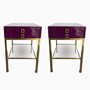 French Lacquered Side Tables by Guy Lefèvre for Maison Jansen, 1970s, Set of 2