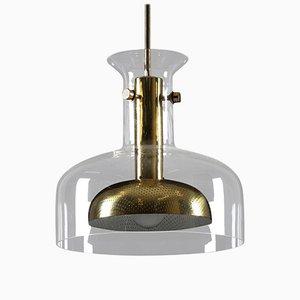 Lampada in cristallo di Anders Pehrson per Ateljé Lyktan, anni '60
