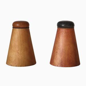 Salt and Pepper Pot Stools, 1970s, Set of 2