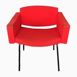 Poltrona Council rossa di Pierre Guariche per Meurop, anni '60