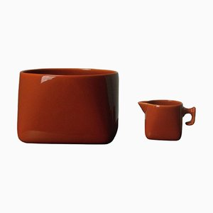 Bowl & Creamer by Nanna Ditzel for Søholm, 1960s