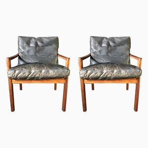 Armlehnstühle aus Palisander, 1950er, 2er Set