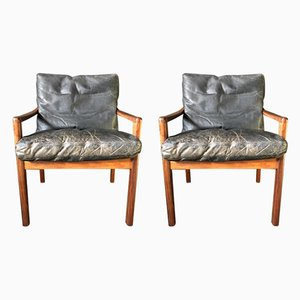 Rosewood Armchairs, 1950s, Set of 2