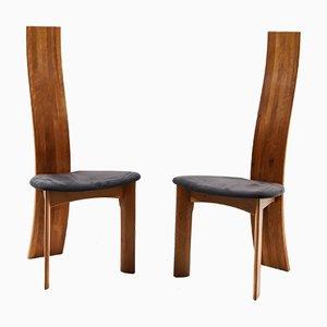 Vintage Iris Esszimmerstühle aus Kirschholz von Bob & Dries Van Den Bergh for Tranekær, 8er Set