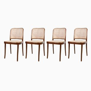 Vintage Model 811 Prague Chairs from Thonet, Set of 4