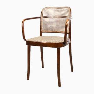 Modell A811 Armlehnstuhl von Josef Frank und Josef Hoffmann für Thonet, 1920er