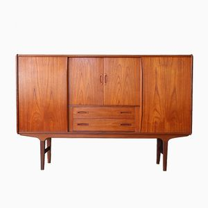 Danish Teak & Rosewood Highboard by Poul Hundevad, 1960s