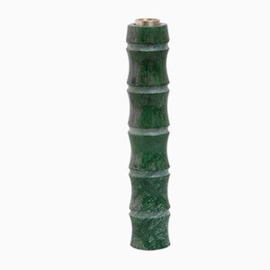 Italian Kadomatsu Candle L Candle Holder in Verde Guatemala Marble by Michele Chiossi for Mmairo