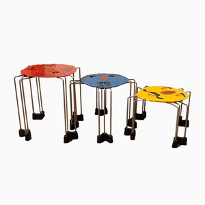 Multicoloured Nesting Tables by Gaetano Pesce, 2007