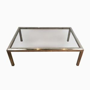 Large Chrome Coffee Table, 1970s