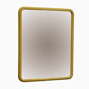 Rechteckiger Spiegel mit gelbem Rahmen, 1970er