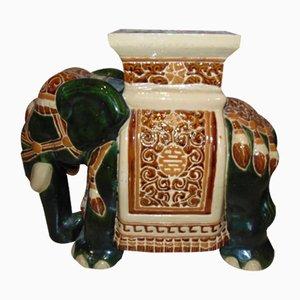 Poggiapiante a forma di elefante in ceramica, anni '80