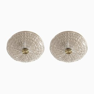 Flush-Mount Ceiling Lights by Carl Fagerlund for Lyfa, 1970s, Set of 2