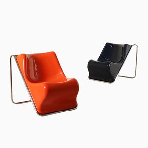 Armchairs by Alberto Rosselli for Saporiti, 1970s, Set of 2