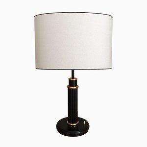 Italian Leather Table Lamp, 1960s