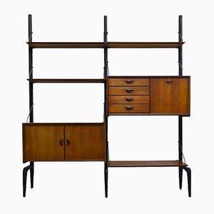 Libreria modulare in teak di Louis van Teeffelen per WéBé, 1955