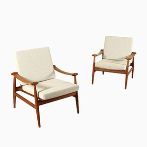 Danish Armchairs by Finn Juhl for France & Søn, 1960s, Set of 2
