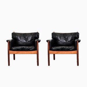 Rosewood Armchairs by Gunnar Myrstrand for Källemo, 1960s, Set of 2