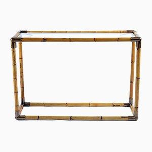 Consolas Mid-Century de latón y bambú de Banci Firenze para Banci. Juego de 2