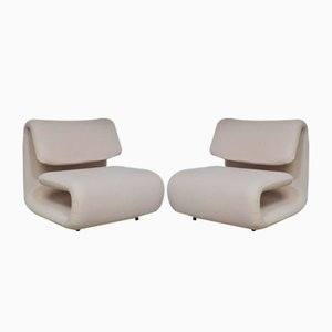 Lounge Chairs by Etienne Henry Martin for TFM, 1970s