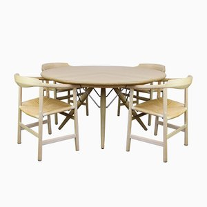 PP75 Dining Table & 4 PP205 Chairs by Hans J. Wegner for PP Møbler, 1980s