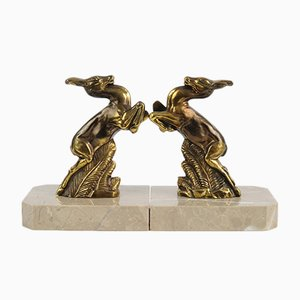 Art Deco Mountain Goat Bookends, 1930s