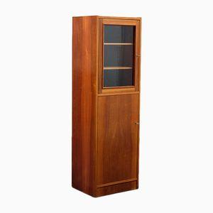 Narrow Display Cabinet in Walnut, 1960s