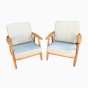 GE240 Cigar Chairs by Hans J. Wegner for Getama, 1960s, Set of 2
