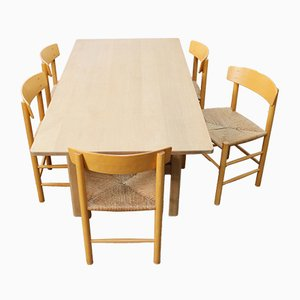 Vintage Danish Dining Set by Børge Mogensen for Fredericia, 1950s