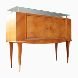 High Buffet with Ash Marquetry by Baptistin Spade, 1950s
