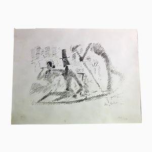 Vintage Lithograph by Jean Cocteau
