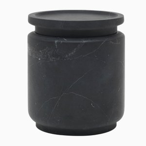Pyxis M Pot in Nero Marquina Marble by Ivan Colominas for MMairo