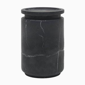 Schwarzer Pyxis L Behälter aus Marquinia Marmor von Ivan Colominas für MMairo
