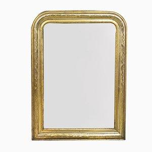 Antiker Spiegel mit floralen Radierungen im Rahmen
