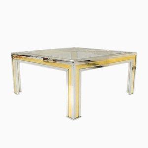 Square Bicolor Coffee Table by Romeo Rega, 1970s