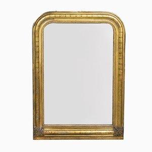 Specchio Louis Philippe in legno dorato antico