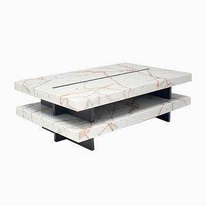 ZIP! Tavolo in marmo Calacatta Oro ed ottone di Stefano Belingardi Clusoni per MMairo