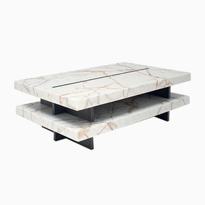 ZIP! Tisch aus Calacatta Marmor und Messing von Stefano Belingardi Clusoni für MMairo