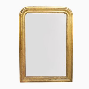Antique Gilded Mirror with Etching