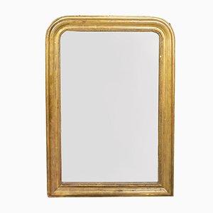 Miroir Doré Antique avec Gravure